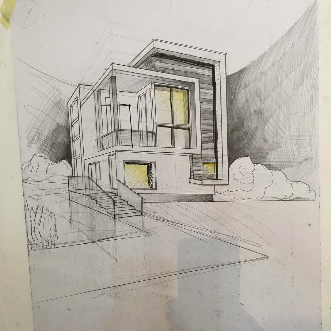 Design drawing architecture art sketching buildings for Architecture house drawing