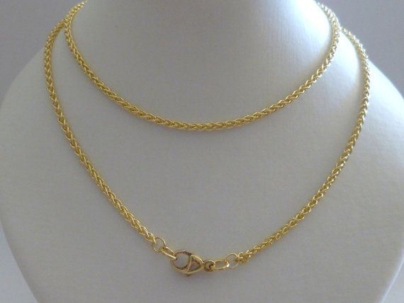 9ct Solid Yellow Gold Wheat Chain Necklace 60cm s 24 Inches N102 9k 375 10k  Gold Rope Chain Men Women Free Gift Pouch 81f70a45dc1b