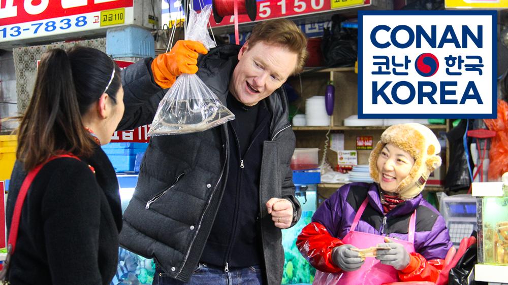 Conan In Korea Conan Learns Korean Makes It Weird