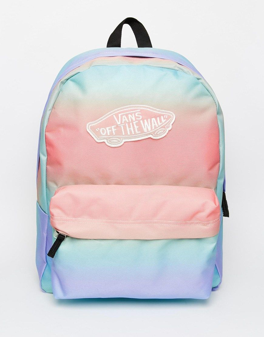 625a663565 Image 1 of Vans Backpack in Pastel Ombre Stripe