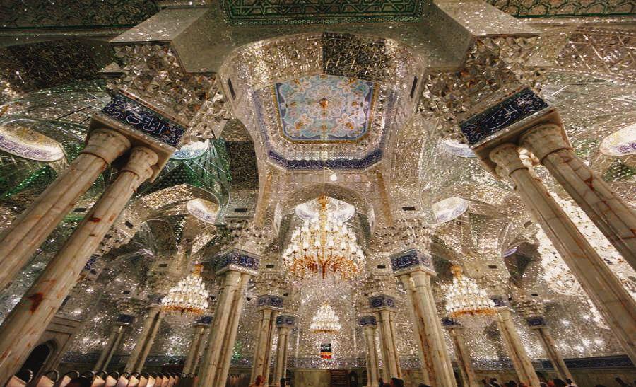 Maula Ali Shrine Wallpaper: The Interior Ceiling Of Imam Ali Shrine. Najaf, Iraq