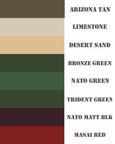 Us Army Color Palette