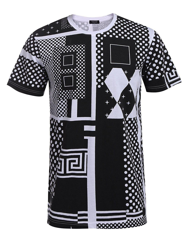 2077f71c7cd Men's Clothing, Shirts, T-Shirts, Mens Fashion Printed T-Shirts Geometric  Pattern Hipster Hip-Hop Premium Tees - White - C2183RYE2SX #fashion #Shirts  #men ...