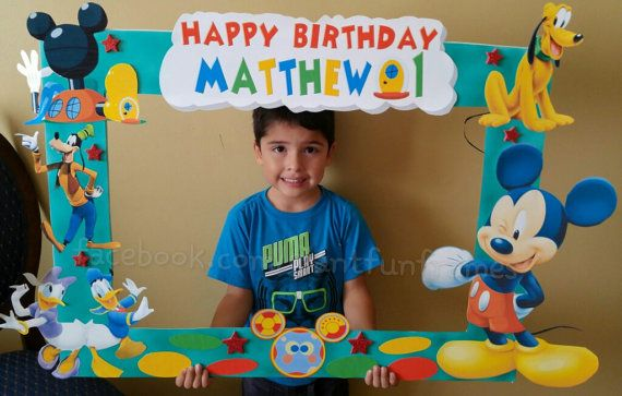Mickey Mouse Clubhouse Frame Photo Booth Photo Prop Party