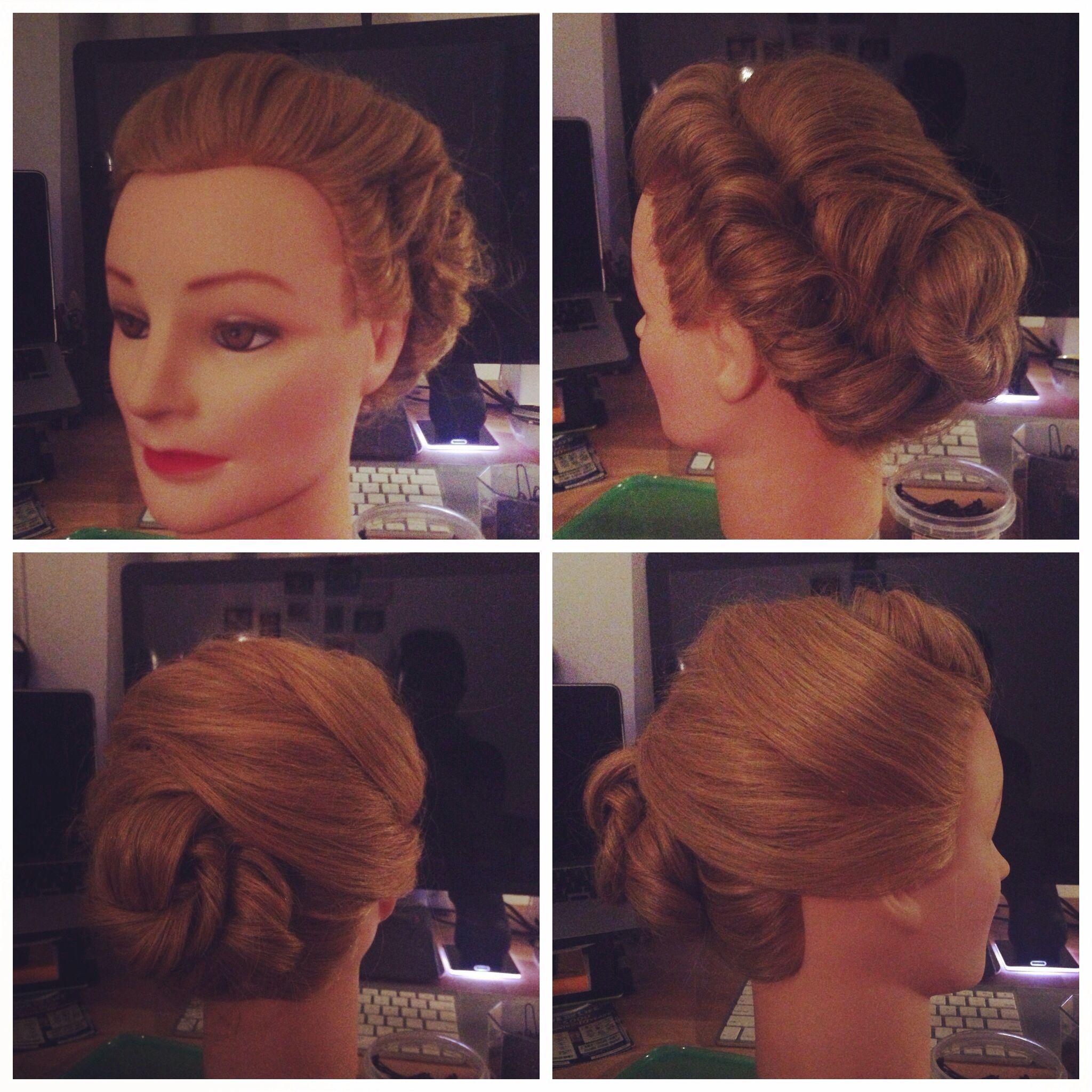 Elsa coronation hair updo from Frozen