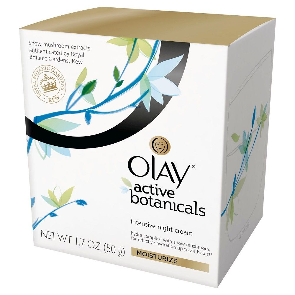 Olay Active Botanicals Intensive Night Cream Moisturizer   oz