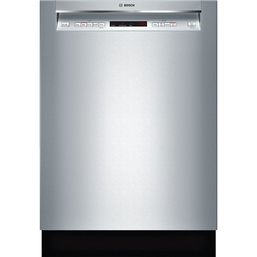 Bosch 300 44 Decibel Front Control 24 In Built In Dishwasher Stainless Steel Energy Star Lowes Com Built In Dishwasher Integrated Dishwasher Bosch Dishwashers