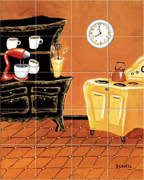 retro kitchen kitchen tile backsplashes tile mural accent tiles italian tile murals tuscany backsplash tiles