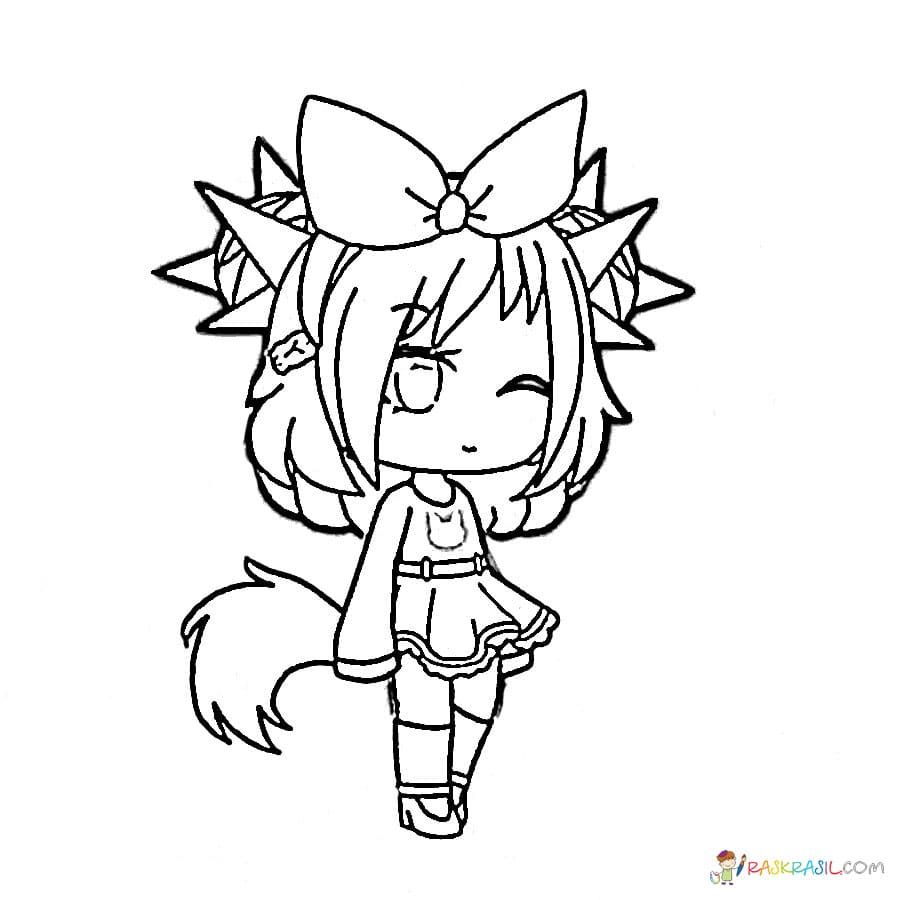 Gacha Life Coloring Pages Black And White Unique Collection Print