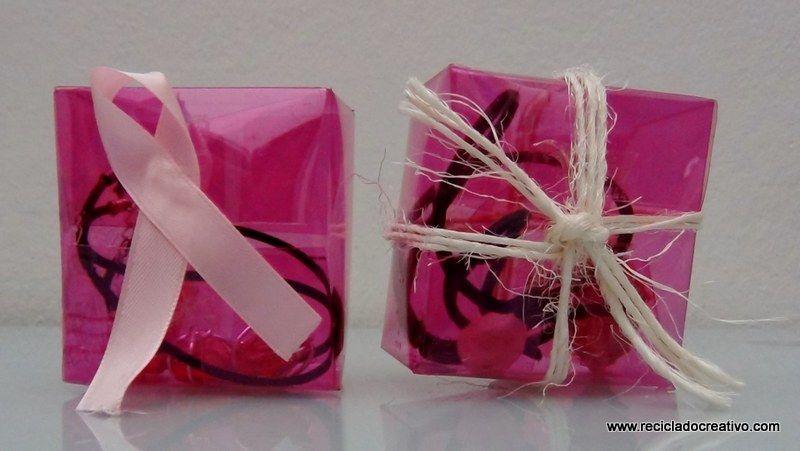 Cómo hacer una caja de regalo cuadrada reciclando botellas de plástico #gotasdesolidaridad contra el cáncer de mama #solandecabras #solidaridad