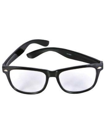 ad21378d9e8 Nerd Glasses Buddy Wayfarer Black Frame Clear Lens