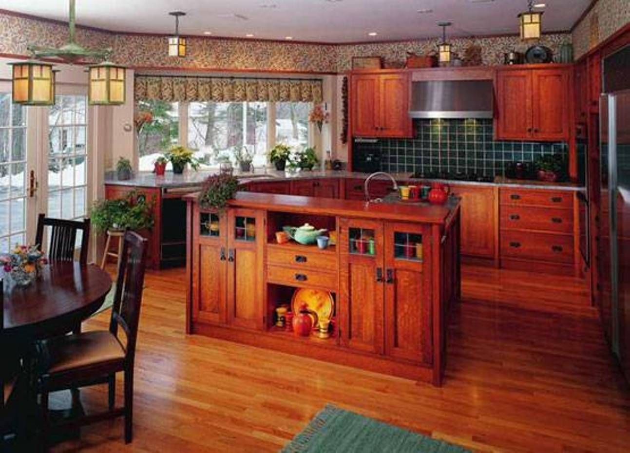 furniture , elegant craftsman style furniture : kitchen cabinets