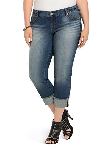 bc1ac0b57a9 Torrid Cropped Boyfriend Jeans - Medium Wash   Details can be found by  clicking on the image.
