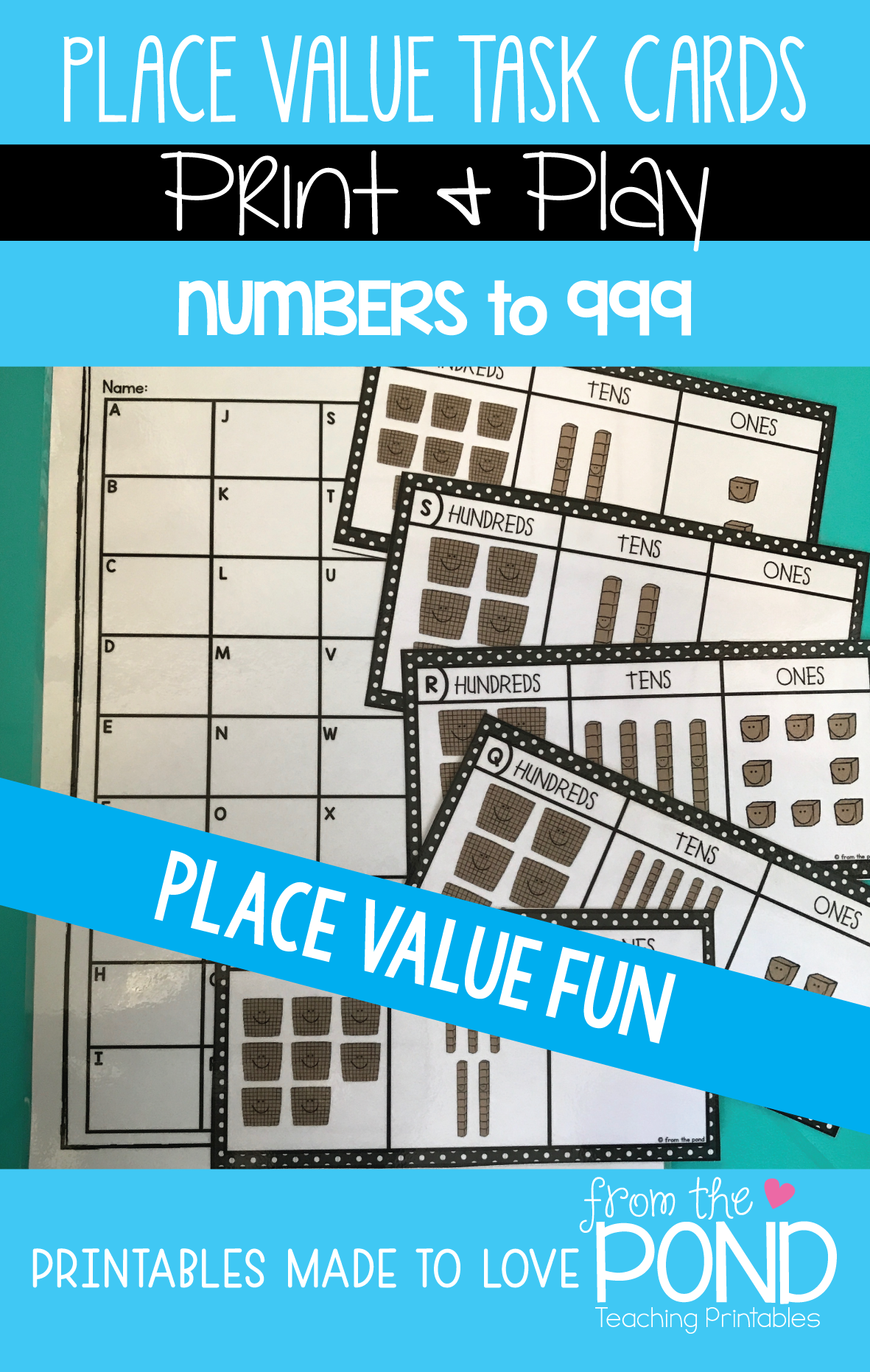 Place Value Task Cards | Math activities, Activities and Math