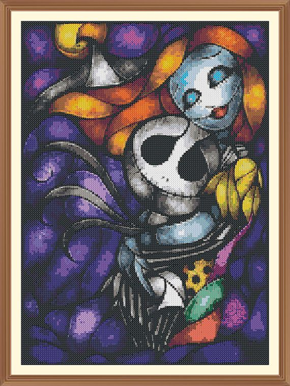 abstract nightmare before christmas Cross Stitch Chart by Shawboyz ...