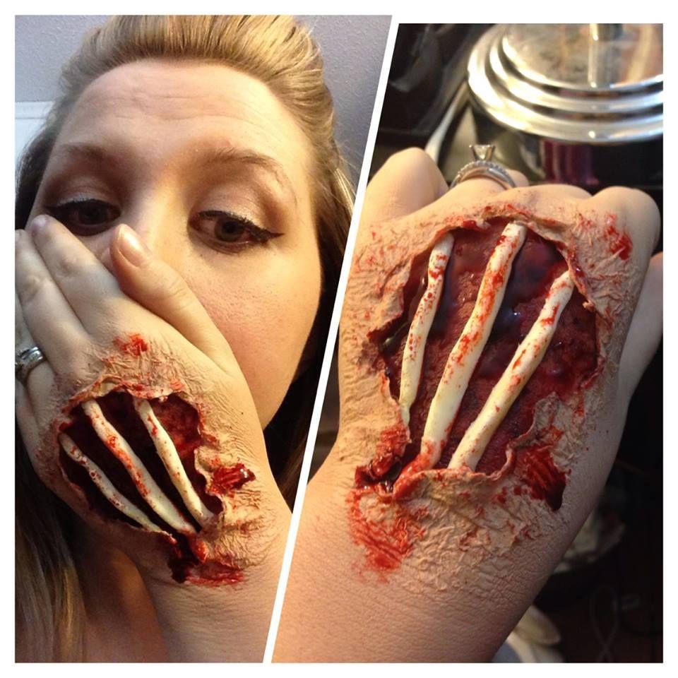 FX Halloween Makeup - Hand Bones | Everyday Is Halloween ...