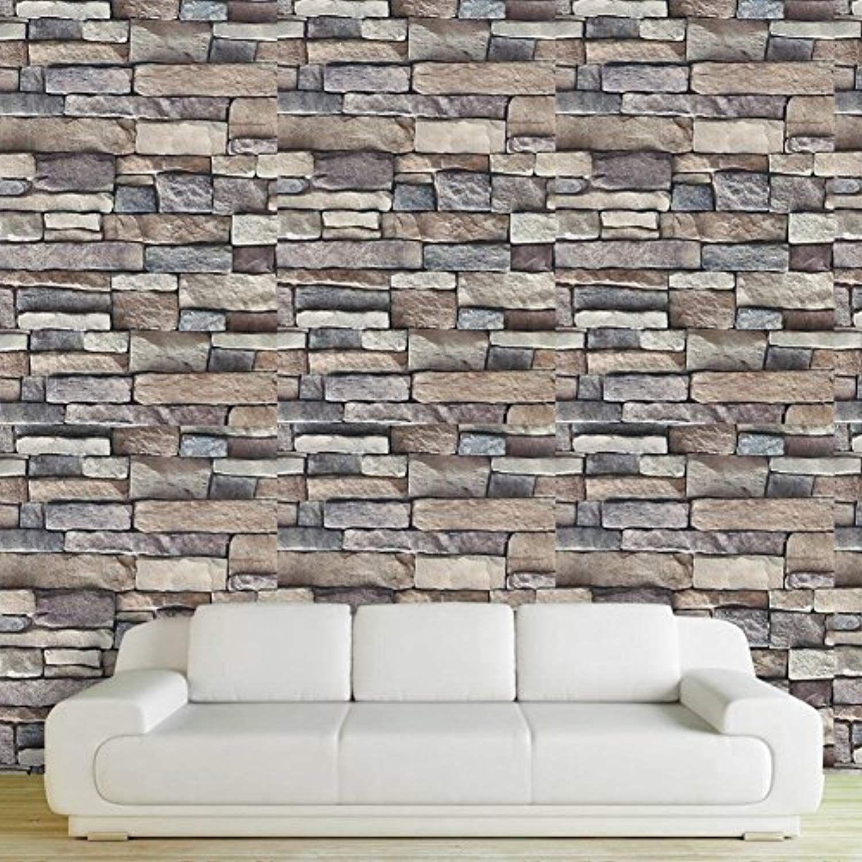 Chinatera Peel And Stick Tile Kitchen Backsplash Sticker Aluminum Foil Mural Mosaic Wallpaper Waterproof Removable Wall Stickers Hallway Stone Wall Cool Walls