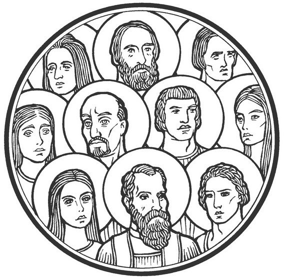 Catholic Saints And All Saint S Day Coloring Pages All Saints Day Saint Coloring Catholic Coloring