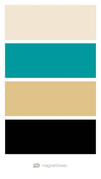 Champagne Teal Gold And Black Wedding Color Palette Custom