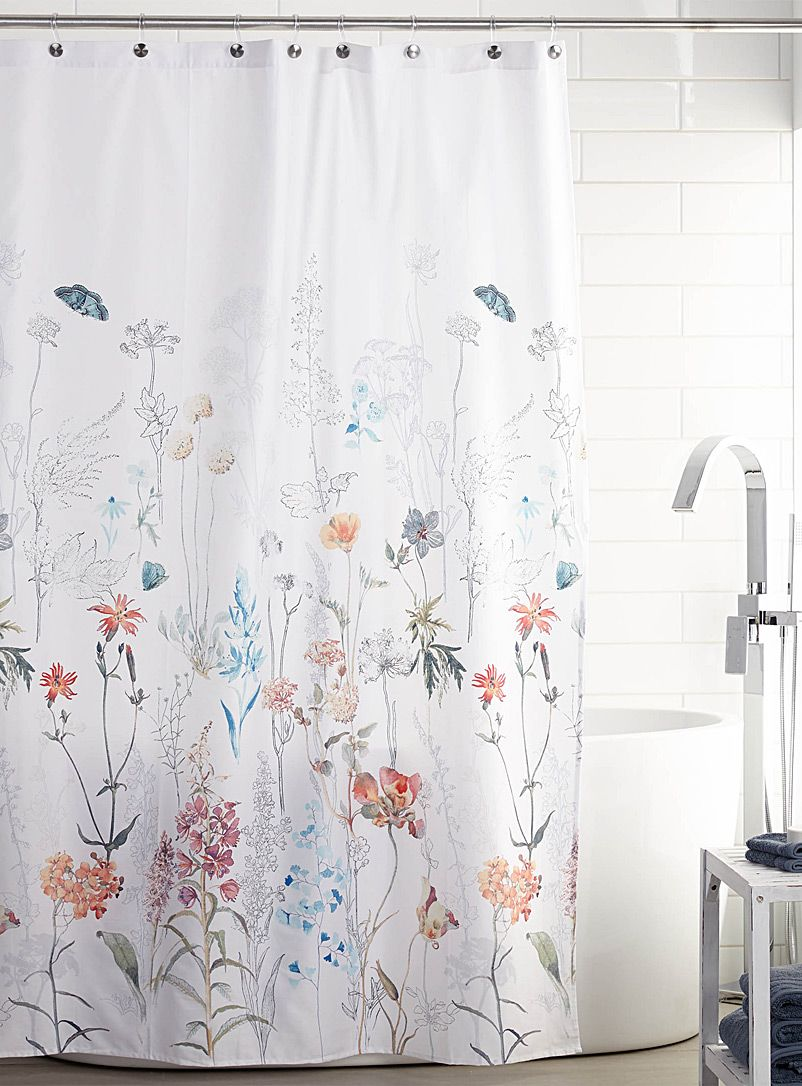 Flowering Fields Shower Curtain Simons Maison Shop Fabric Shower Curtains Online In Canada Simon Fabric Shower Curtains Diy Shower Curtain Shower Curtain