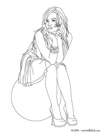 Demi Lovato Seated Coloring Page More Famous People Coloring Sheets On Hellokids Com Cute Coloring Pages People Coloring Pages Coloring Pages