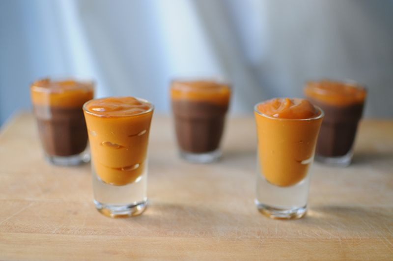 Boozy Irish Cupcakes Jameson Pudding Shots via Brit Co Food