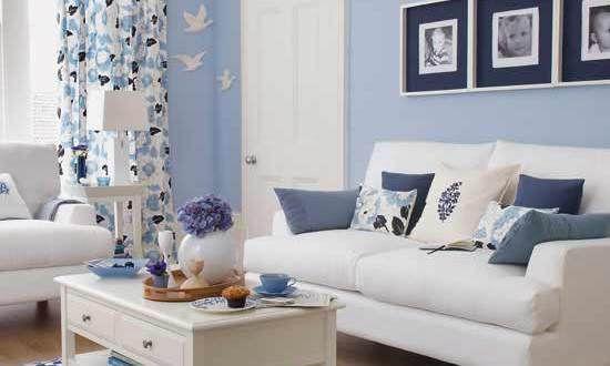 Fantastisch Wohnzimmer Blau Zimmer Streichen Ideen   FresHouse