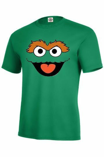 34b83137 Sesame Street Characters-Cookie Monster Elmo by kickingapparel. Oscar The  Grouch T Shirt/Long/Junior Sesame Street Kelly Green Adult Sizes S-4Xl