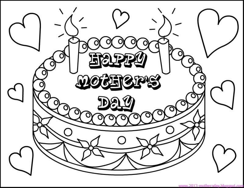 Happy Mothers Day Coloring Page Link opens to mothers day