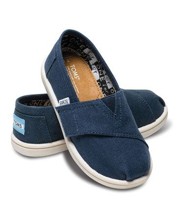 033d28d5b05 Take a look at this Navy Canvas Classics - Tiny by TOMS Kids on  zulily  today!