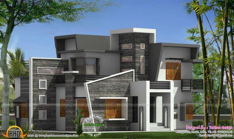 Box Type Home With Cantilever Balcony Kerala Home Design And In Cantilever  House Design