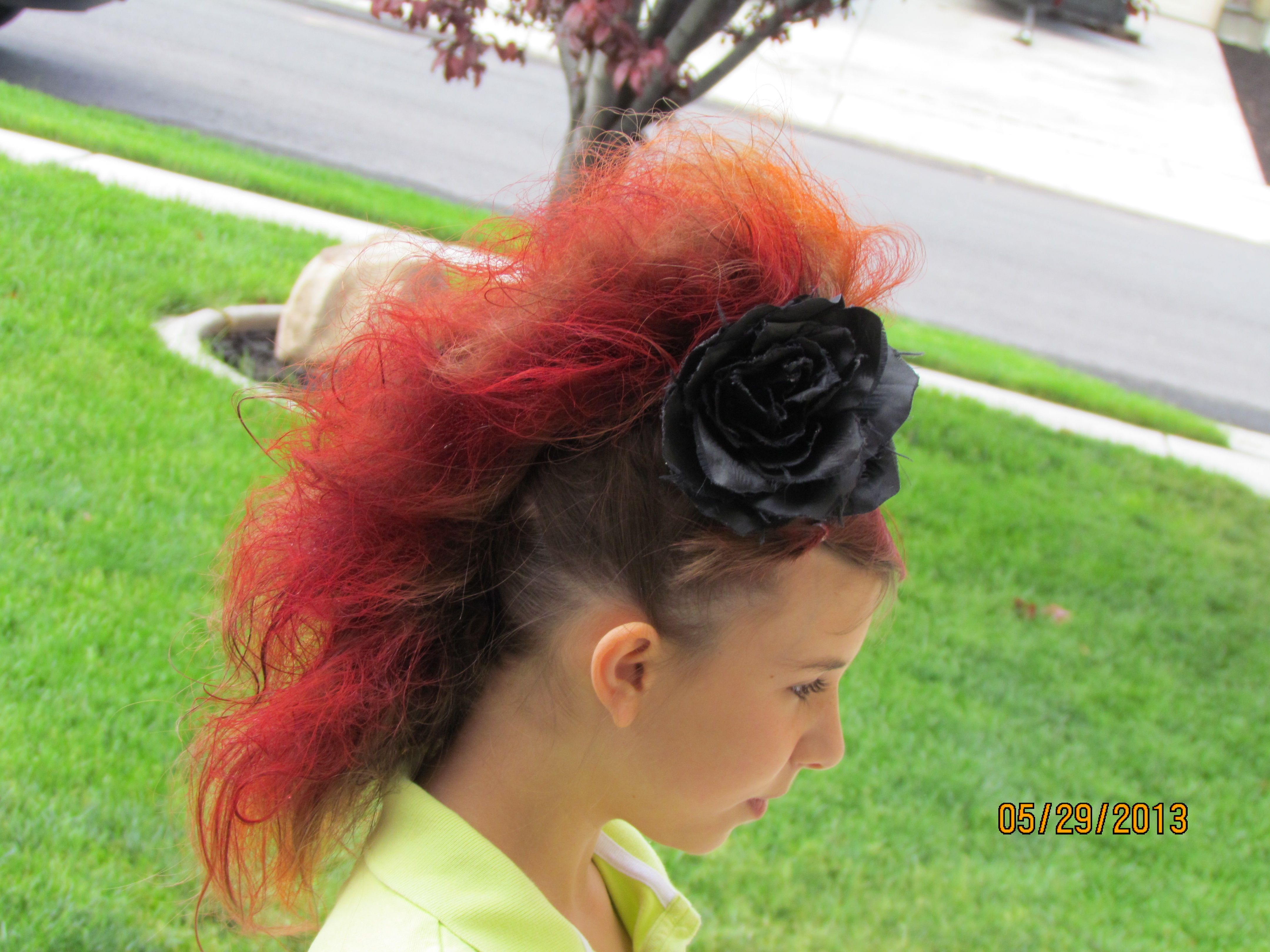 Sydneyus mohawk for crazy hair day acro pinterest hair