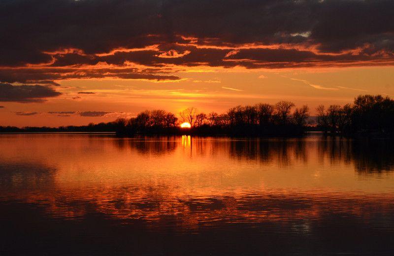 Summer Evening In Wisconsin | Beaver Dam Lake as the sun
