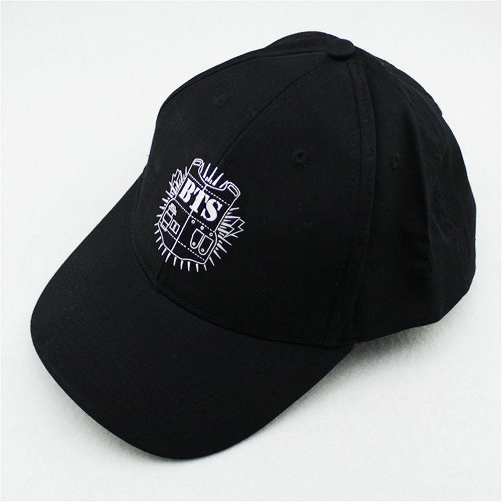 366ba77b7c8 KPOP Hat For BTS 2016 New Fashion Design Classic Black Sport Baseball Cap  Hip-hop Cap Wholesale