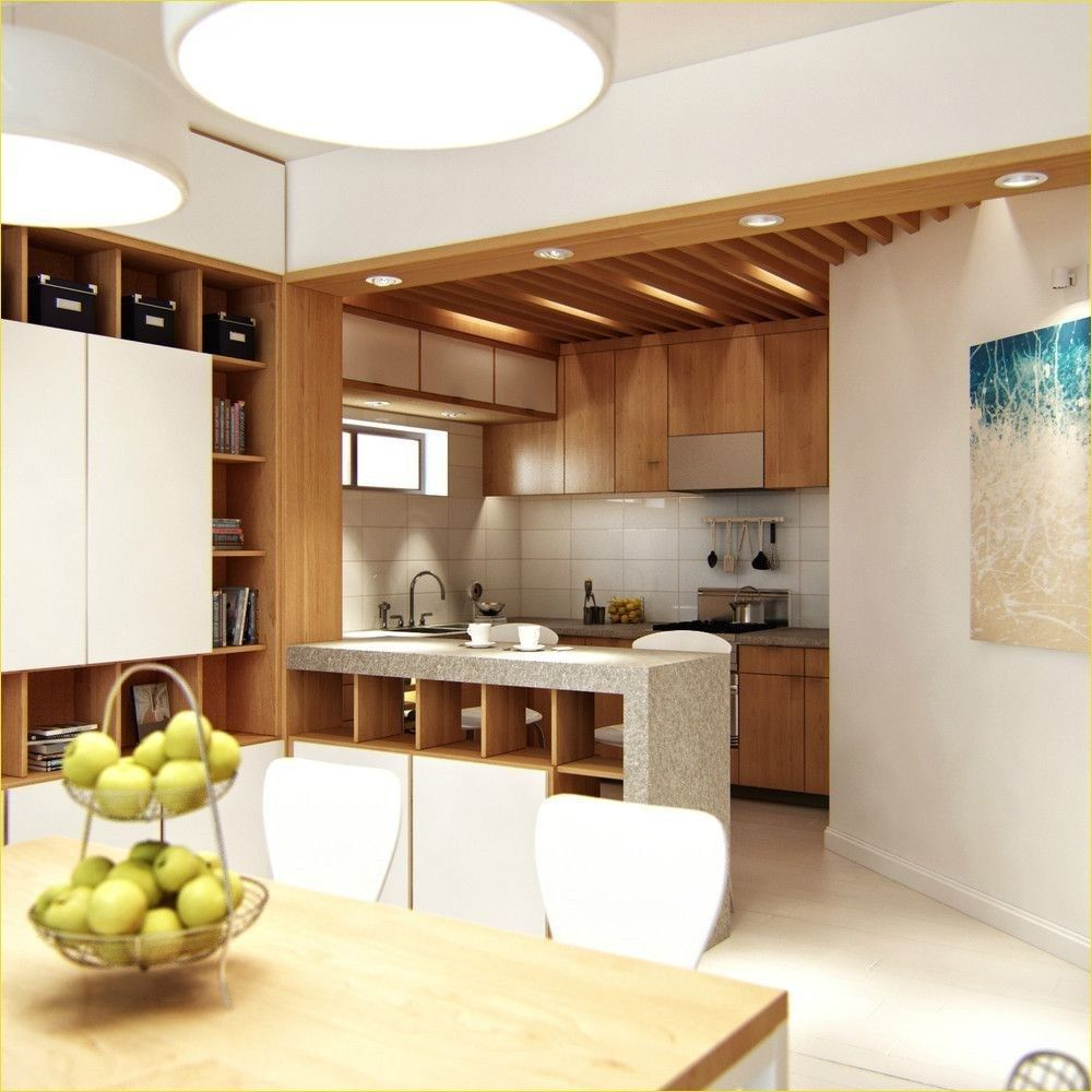 Modern Divide Kitchen From Living Room Beauty Room Decor