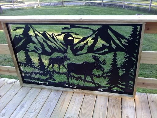 Custom Railing Inserts Log Home Modern Art By