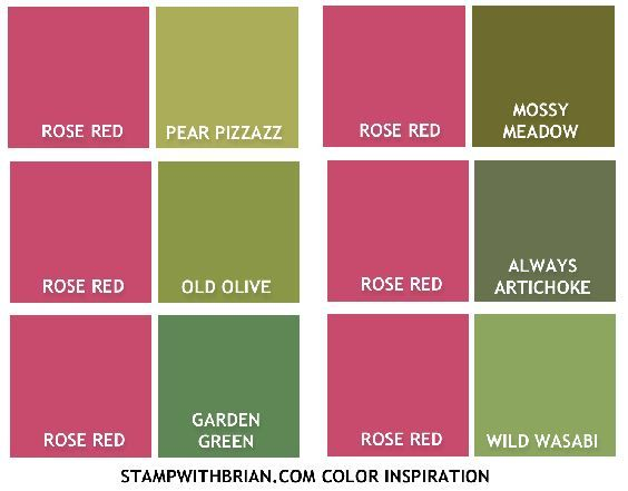 Color Inspiration Rose Red For Christmas Stampin Up Brian King