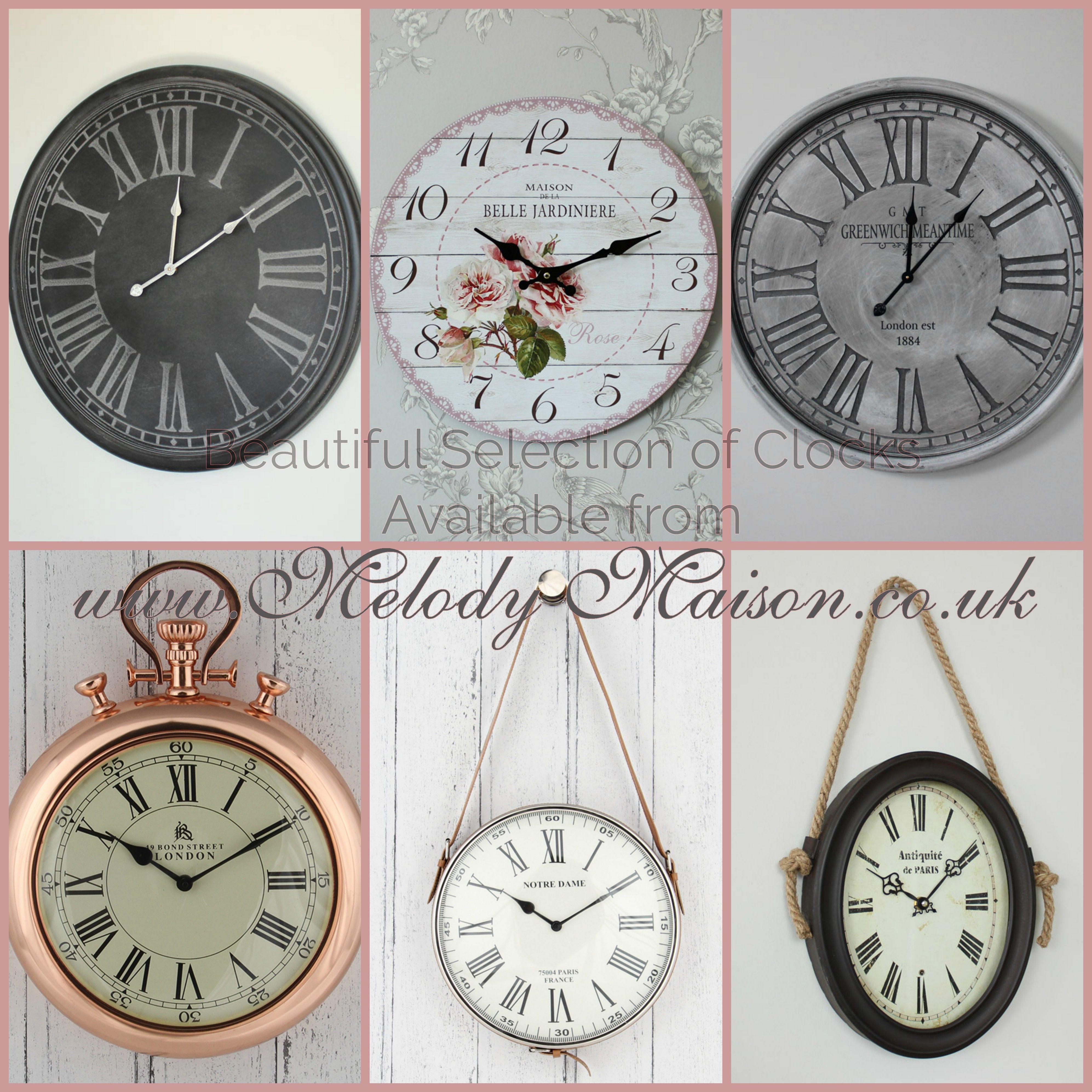 LOVE CLOCKS, wall clocks, mantel clocks, outdoor clocks! for shabby ...