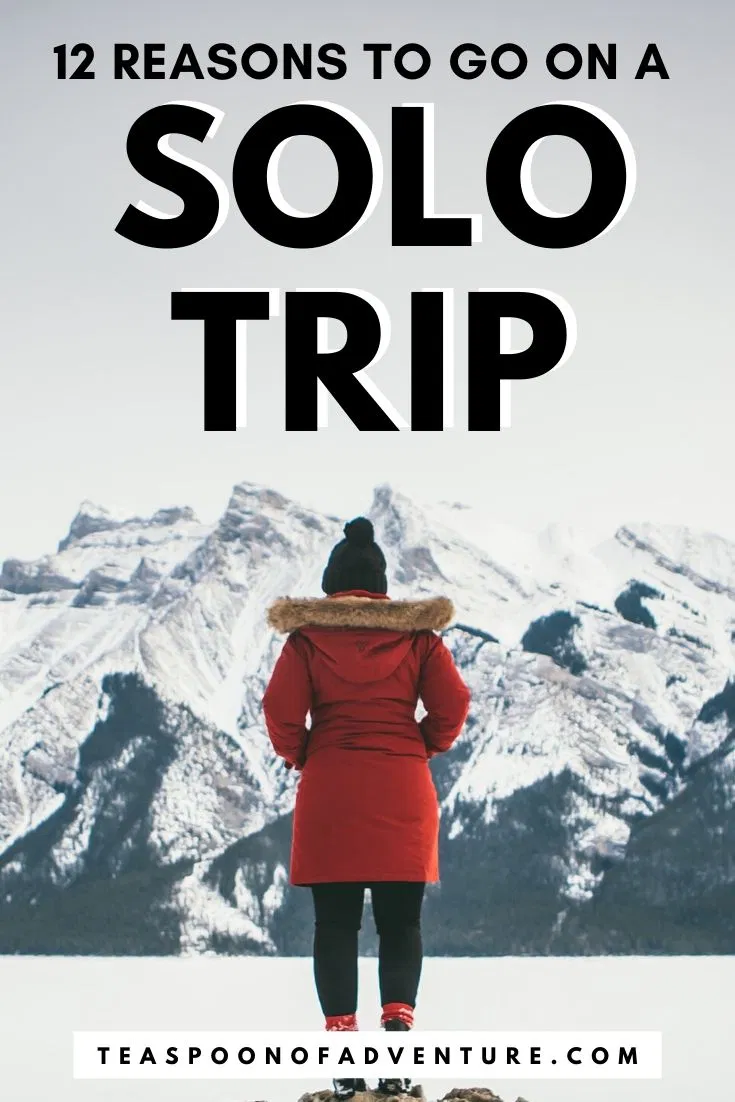 It may sound scary, but solo travel is one of the best things you can do. Here are 12 reasons why you should solo travel + tips for your first solo trip!  #solotravel #solotrip #travel #traveltips