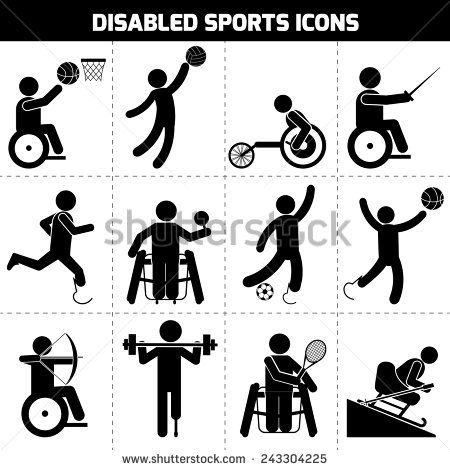 Sitting Volleyball Stock Vectors Vector Clip Art Pictogram Graphic Design Infographic People Icon