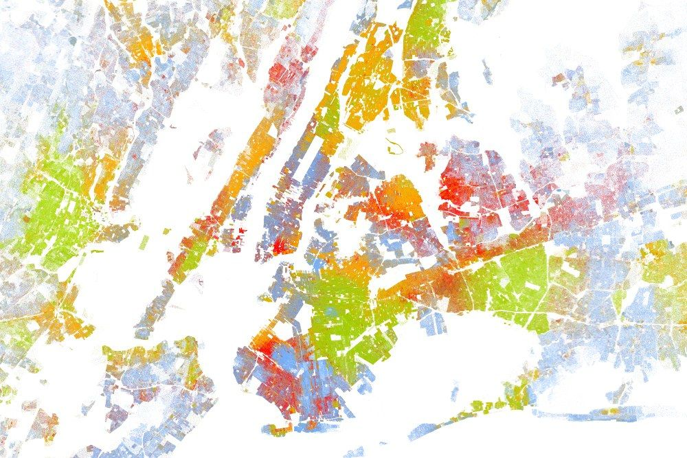 The Best Map Ever Made Of Americas Racial Segregation - Color coded map of us