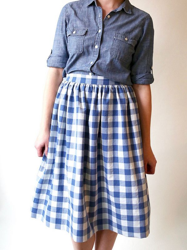 Gingham Cleo skirt - Made by Rae