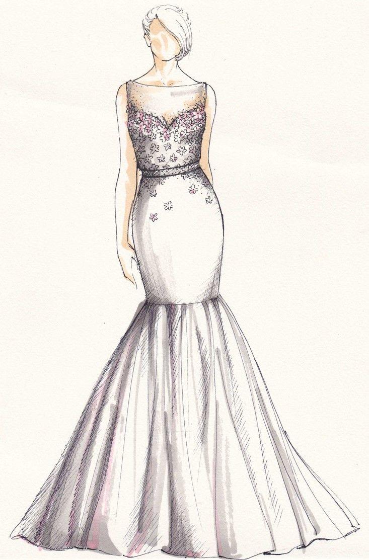 weddinggown #sketch   Wedding gown sketch   Pinterest   Sketches