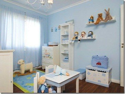 Cuarto Para Varon Baby Blue Nursery Nursery Style Interior Design Furniture