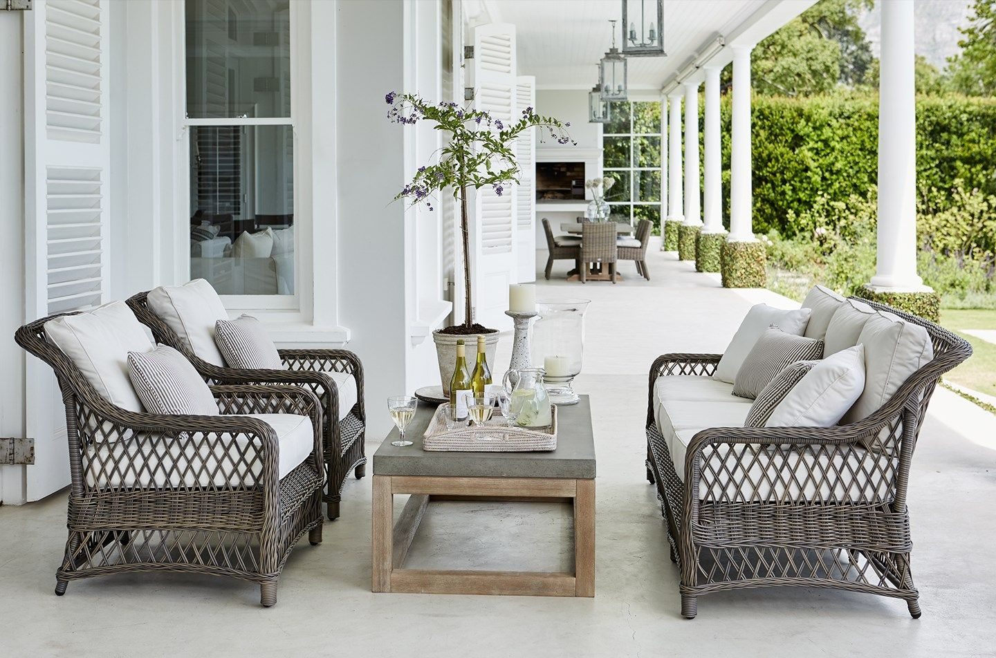 Home garden furniture  A most elegant and inviting outdoor area from Neptune  Summer House