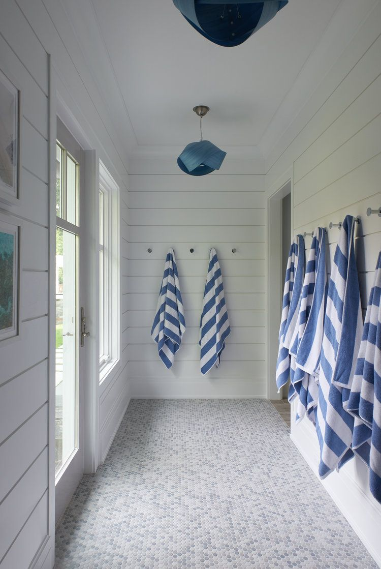 Poolside Changing Room Pool House Decor Pool House Interiors