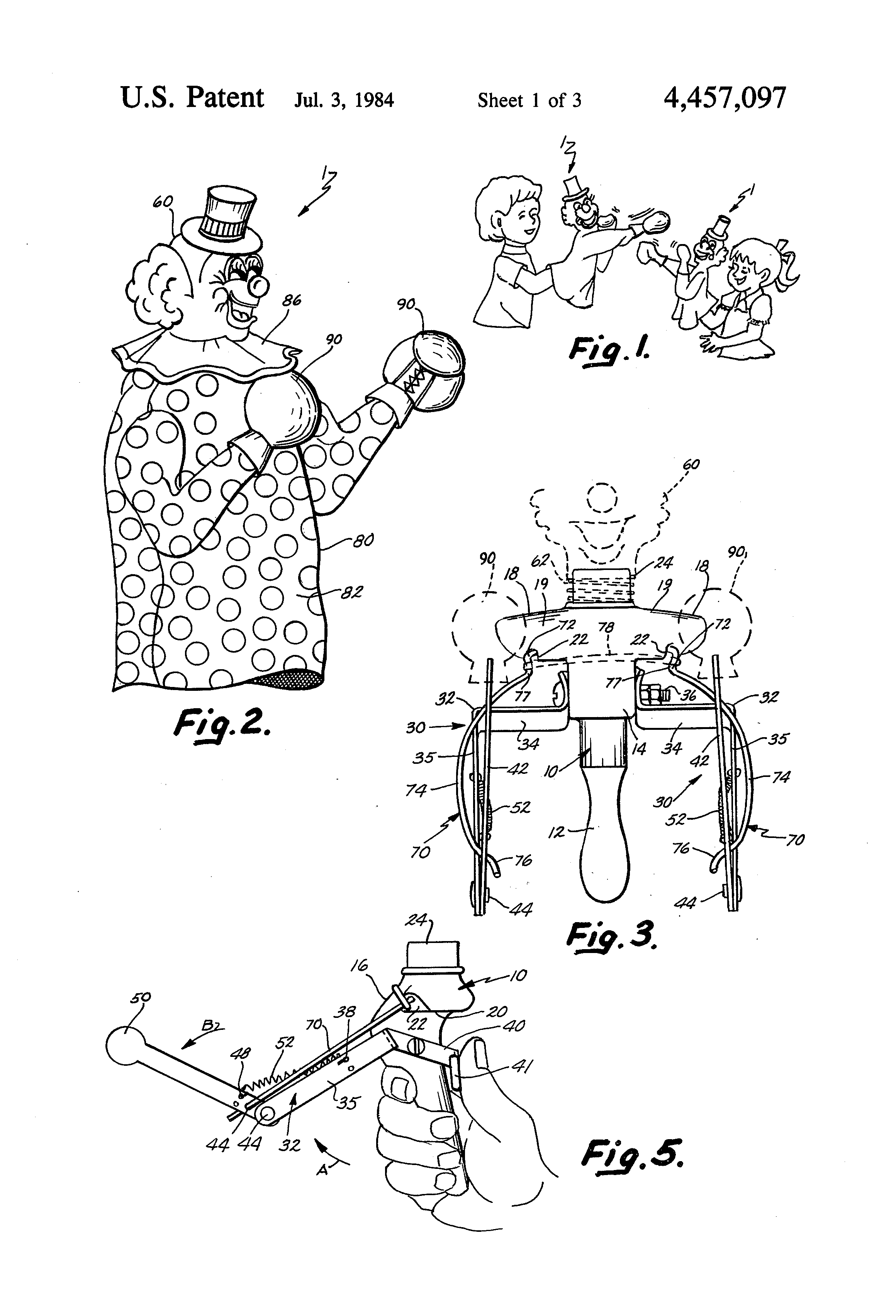 Patent Drawing For Boxing Hand Puppets The Patent