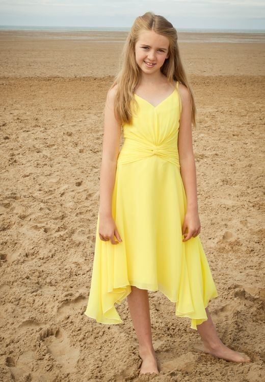 yellow junior bridesmaid dresses vintage yellow wedding | Wedding ...