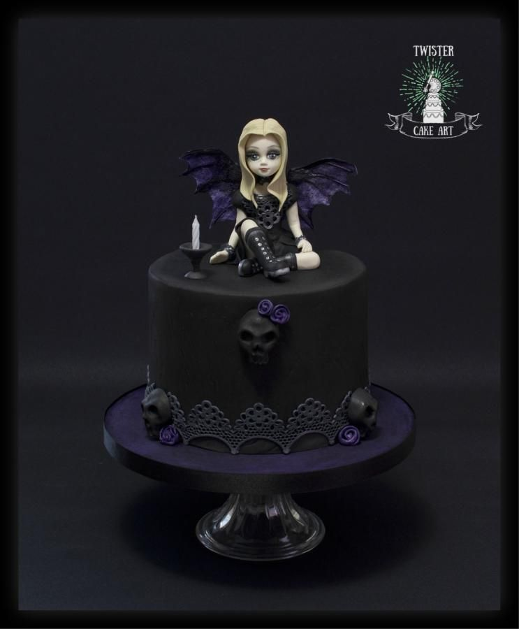 Stupendous Gothic Cake By Twister Cake Art Gothic Cake Gothic Birthday Cakes Birthday Cards Printable Inklcafe Filternl