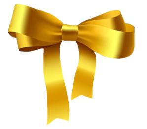 Vector Clip Art Online Royalty Free Public Domain Ribbon Bows Yellow Ribbon Bow Clipart